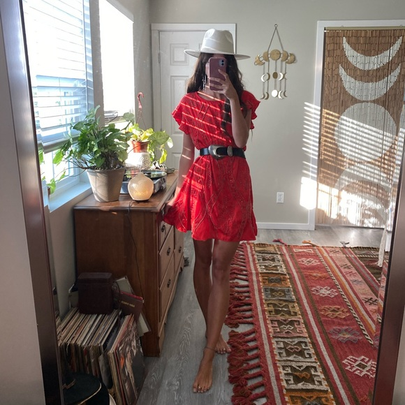 Free People red goddess dress ☪️❤️